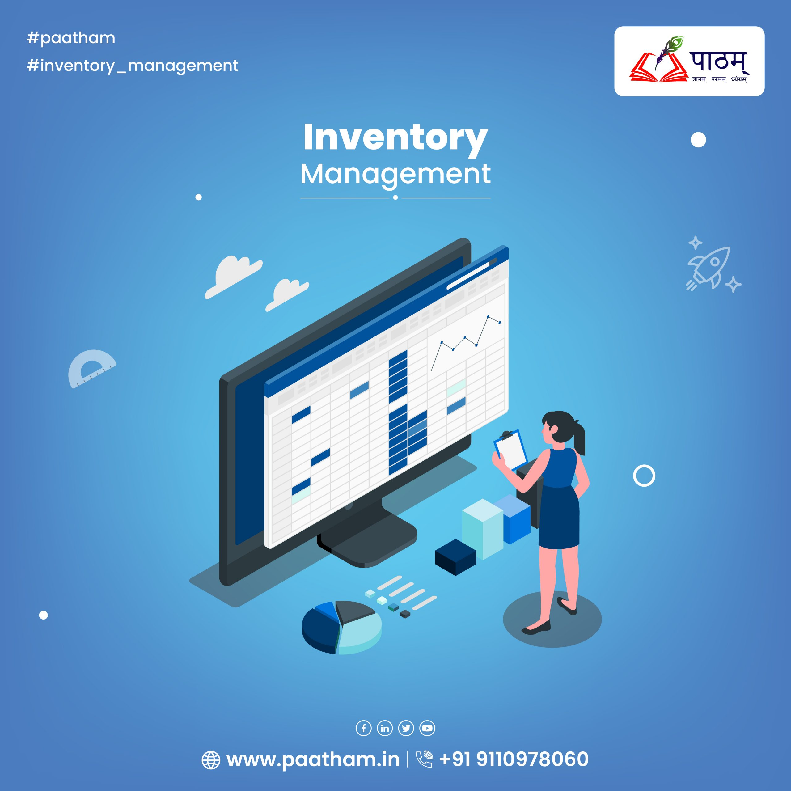 Vector Poster of Inventory management System - Paatham